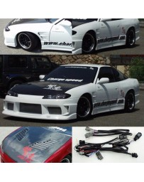 ChargeSpeed Nissan S13 to S15 Front Conv. Vent Carbon Hood