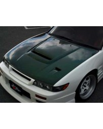 ChargeSpeed 89-94 Nissan 240SX S13 Silvia JDM Vented Hood CF
