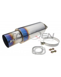 Greddy Universal 2.5in 3-Bolt Tip Revolution Ti Burnt Muffler with Replaceable Tip