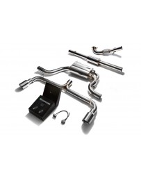 ARMYTRIX Stainless Steel Valvetronic Catback Exhaust System Dual Chrome Silver Tips Volkswagen Scirocco R 2.0TSI 2009-2019