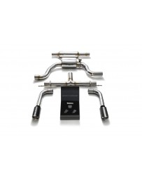 ARMYTRIX Stainless Steel Valvetronic Catback Exhaust System Dual Carbon Tips Seat Leon Cupra 280 2014+ 2.0 TSI Turbo