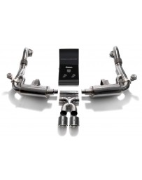 ARMYTRIX Stainless Steel Valvetronic Exhaust System Dual Carbon Tips Porsche 718 Boxster Cayman 2017-2020