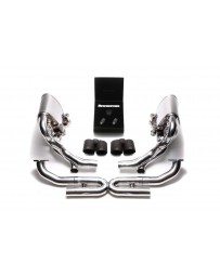 ARMYTRIX Stainless Steel Valvetronic Exhaust System Quad Matte Black Porsche 997.2 Carrera PDK 2009-2011