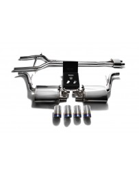 ARMYTRIX Stainless Steel Valvetronic Exhaust System Quad Blue Coated Tips Porsche 970 Panamera S GTS 2010-2013