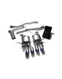 ARMYTRIX Stainless Steel Valvetronic Exhaust System Quad Blue Coated Tips Porsche Macan 2.0T 2015-2020