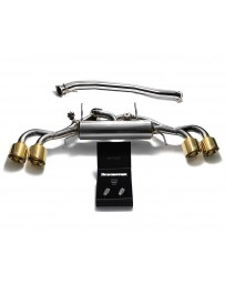 ARMYTRIX Stainless Steel Valvetronic Catback Exhaust 90mm System Quad Gold Tips Nissan GT-R R35 2009-2020