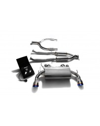 ARMYTRIX Stainless Steel Valvetronic Catback Exhaust Dual Blue Coated Tips Nissan 370Z 2009-2020