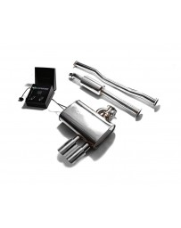 ARMYTRIX Stainless Steel Valvetronic Exhaust System Dual Chrome Silver Mini Cooper S F 55 2014-2020