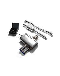 ARMYTRIX Stainless Steel Valvetronic Catback Exhaust System Dual Blue Coated Tips Mini Cooper S F56 2014-2020