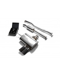ARMYTRIX Stainless Steel Valvetronic Catback Exhaust System Dual Matte Black Tips Mini Cooper S F56 2014-2020