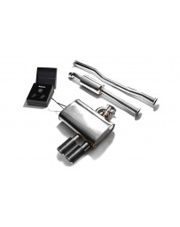 ARMYTRIX Stainless Steel Valvetronic Catback Exhaust System Dual Carbon Tips Mini Cooper S F56 2014-2020
