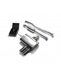 ARMYTRIX Stainless Steel Valvetronic Exhaust System Dual Carbon Tips Mini Cooper S F56 F57 2014-2020