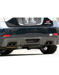 ChargeSpeed 08-13 WRX STI CF Diffuser For CS T-1 Rear Bumper