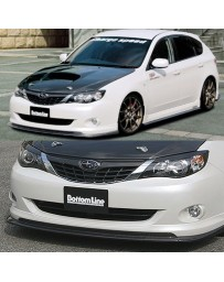 ChargeSpeed 08-10 Impreza HB Bottom Line T-1 Front Lip Carbon