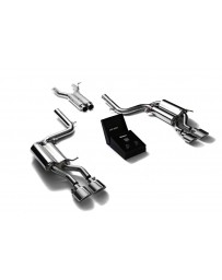 ARMYTRIX Stainless Steel Valvetronic Catback Exhaust System Quad Chrome Tips Mercedes Benz C63 AMG W204 2008-2014