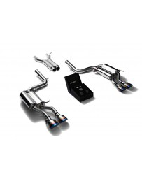 ARMYTRIX Stainless Steel Valvetronic Catback Exhaust System Quad Blue Coating Tips Mercedes Benz C63 AMG W204 2008-2014