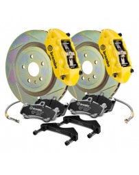 Focus ST 2013+ Brembo GT Series Slotted Yellow 1-Piece Rotor Front Brake Kit