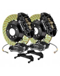 Focus ST 2013+ Brembo GT Series Cross Drilled Black 2-Piece Rotor Front Brake Kit