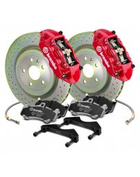 Focus ST 2013+ Brembo GT Series Cross Drilled Red 1-Piece Rotor Front Brake Kit