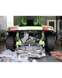 ARMYTRIX Titanium Valvetronic Exhaust System Titanium Blue Tips Lamborghini Gallardo 2008-2013