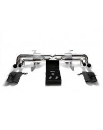 ARMYTRIX Titanium Valvetronic Exhaust System Matte Black Tips Lamborghini Gallardo 2008-2013