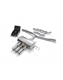 ARMYTRIX Stainless Steel Valvetronic Catback Exhaust System Triple Chrome Silver Tips Honda Civic Type-R FK8 2.0L 2018-2021