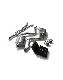 ARMYTRIX Stainless Steel Valvetronic Catback Exhaust System Dual Blue Coating Tips Ford Mustang 2.3L EcoBoost 2015-2020