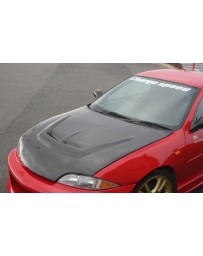 ChargeSpeed 95-02 Cavalier Carbon Vented Hood (Japanese CFRP)