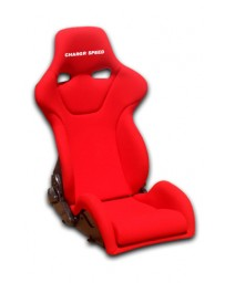 ChargeSpeed Reclined Racing Seat Genoa R Carbon Red