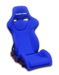 ChargeSpeed Reclined Racing Seat Genoa R FRP Blue