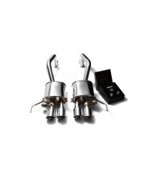 ARMYTRIX Stainless Steel Valvetronic Catback Exhaust System Quad Chrome Silver Tips Chevrolet Corvette C7 2014-2020