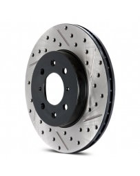 Focus ST 2013+ StopTech Drilled and Slotted Sport Front Driver Side Brake Rotor