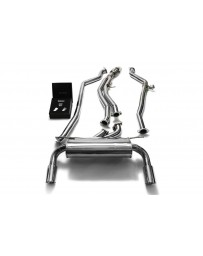 ARMYTRIX Stainless Steel Valvetronic Catback Exhaust System Dual Chrome Silver Tips BMW M135i M235i F2x 2012-2015