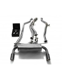 ARMYTRIX Stainless Steel Valvetronic Catback Exhaust System Dual Carbon Tips BMW M135i M235i F2x 2012-2015