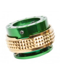 NRG Quick Release Kit - Pyramid Edition - Green Body / Chrome Gold Pyramid Ring