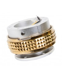 NRG Quick Release Kit - Pyramid Edition - Silver Body / Chrome Gold Pyramid Ring