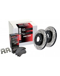 Focus ST 2013+ StopTech Drilled Rotors Street Pack Rear Brake Kit