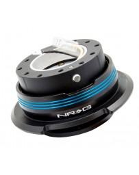 NRG Quick Release Kit - Strike Out Edition - Black / Black Ring / Blue Horizontal Stripes