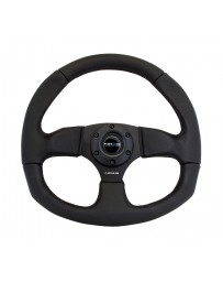 NRG Reinforced Steering Wheel (320mm Horizontal / 330mm Vertical) Leather w/Black Stitching