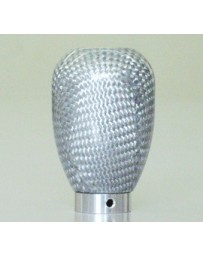 ChargeSpeed Universal Shift Knob Silver Carbon