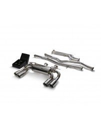 ARMYTRIX Stainless Steel Valvetronic Catback Exhaust System Quad Chrome Silver Tips BMW M2 Competition F87 2019-2020