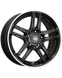 Enkei FD-05 17x7 4x100 40mm Offset 72.62 Bore Dia Black Machined Wheel
