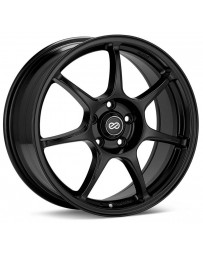 Enkei Fujin 17 x 7.5 40mm Offset 5x100 Bolt Pattern 72.6 Bore Black Wheel