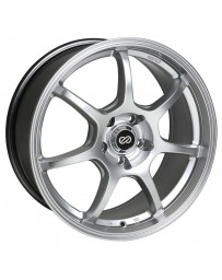 Enkei GT7 18x8 45mm Offset 5x100 Bolt Pattern 72.6mm Bore Dia Hyper Silver Wheel