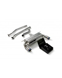 ARMYTRIX Stainless Steel Valvetronic Catback Exhaust System Dual Blue Coated Tips BMW 340i 440i F3X 2016-2020