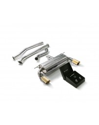 ARMYTRIX Stainless Steel Valvetronic Catback Exhaust System Dual Gold Tips BMW 340i 440i F3X 2016-2020