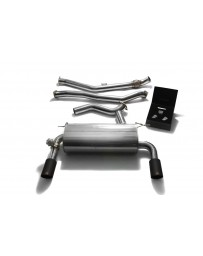 ARMYTRIX Stainless Steel Valvetronic Catback Exhaust System Dual Matte Black Tips BMW 335i GT F34 2013-2016