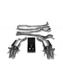 ARMYTRIX Stainless Steel Valvetronic Catback Exhaust System Quad Chrome Silver Tips BMW M5 F10 2011-2017