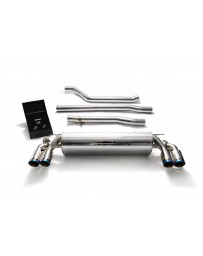 ARMYTRIX Stainless Steel Valvetronic Catback Exhaust System Quad Blue Coated Tips BMW 540i G30 G31 2017-2020
