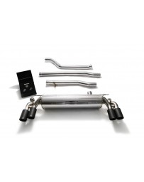 ARMYTRIX Stainless Steel Valvetronic Catback Exhaust System Quad Matte Black Tips BMW 550i G30 G31 2017-2020